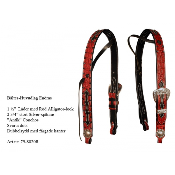 "REINSMAN X-series 1½"" RED ALLIGATOR YHDEN KORVAN SUITSET"
